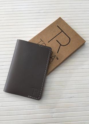 Кожаная обложка на паспорт, hand made, обкладинка на паспорт