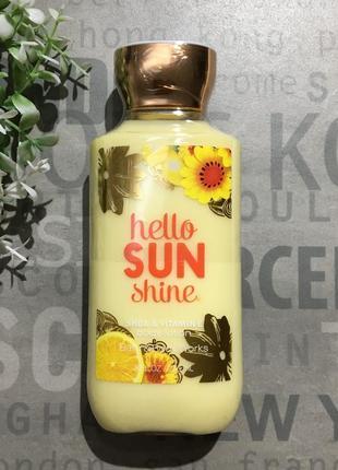 Увлажняющий лосьон для тела bath and body works - hello sunshine (сша)