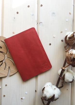 Кожаная обложка на паспорт, hand made, обкладинка на паспорт, crazy horse