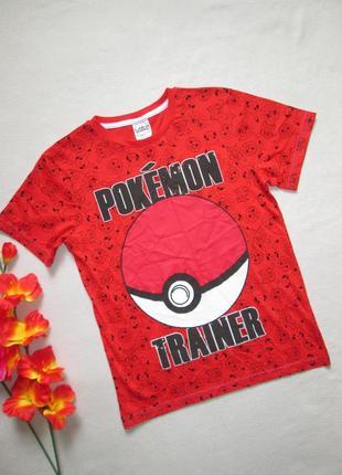 Яркая футболка с надписью и принтом pokemon george