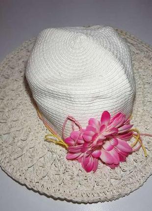 Шляпа monsoon, пляжная, бумажная, размер 52-55, как новая!