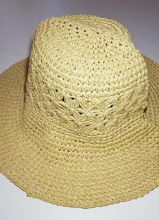 Шляпа marks&spencer, пляжная, бумажная, размер 54-56, как новая!