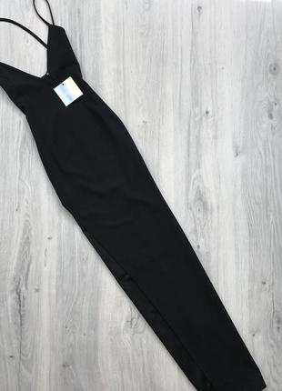 Платье макси с распоркой missguided