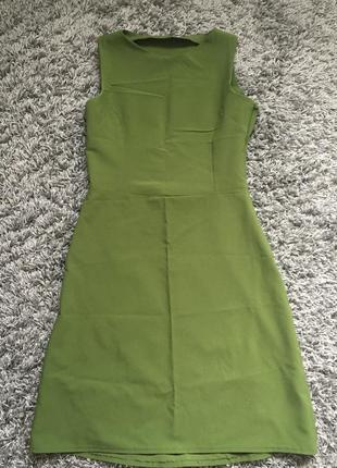 Платье оливкового цвета