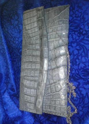Распродажа!!! клатч, сумочка  из кожи крокодила ,  немецкого бренда irv