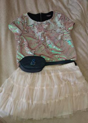 New look юбка фатиновая. пудровая юбка. юбка-пачка для взрослой принцессы.