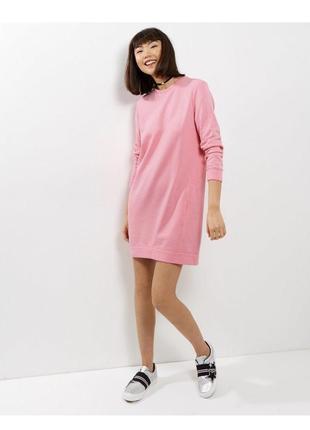 -25 % на все! хлопковое платье свитшот, удлиненная толстовка с карманами