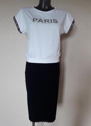 Мега-красивая,модная укороченная,белая футболка-блуза, без рукавов,на поясе