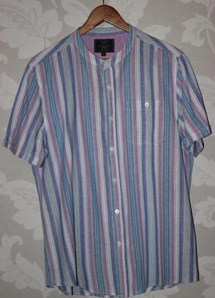 Фирменная рубашка коттон+лен atlantic bay