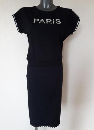Мега-красивая,модная укороченная,черная футболка-блуза, без рукавов,на поясе