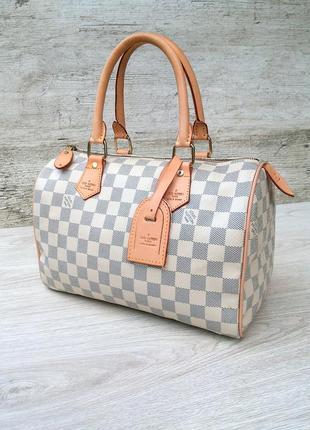 Louis vuitton сумка натуральная кожа + канвас