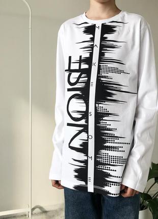 Белая кофта на мальчика 13-14 лет коттонова блуза на хлопчика підлітка