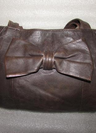 Вместительная сумка 100% натуральная кожа ~tu~ англия