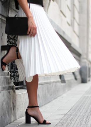 Купить юбку плиссе белую