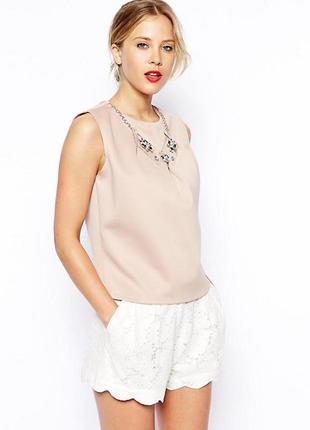Неопреновая блуза с украшением asos,р-р 6,8