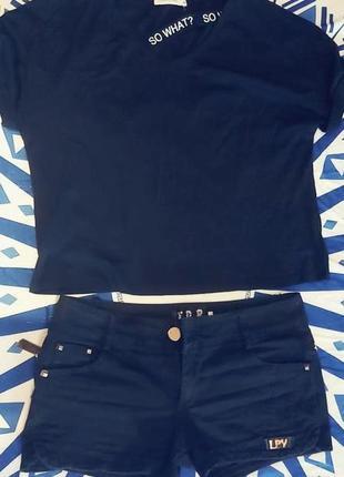 Джинсовые шорты с поперечной молнией