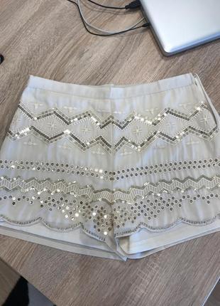 Lily white шорты новые стильные с блестками