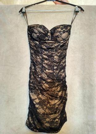 Гепюровое платье tally weijl