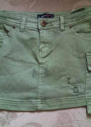 Джинсовая мини юбка fbsister