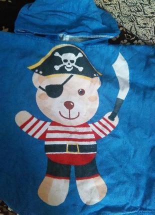 Пончо   пірат  полотенце пончо