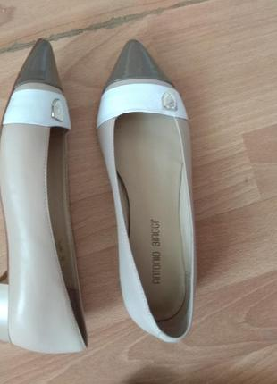 Бежевые туфли antonio biaggi, 35 размер
