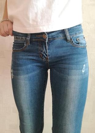 Джинсы с потёртостями,skinny,скинни,облегающие джинсы