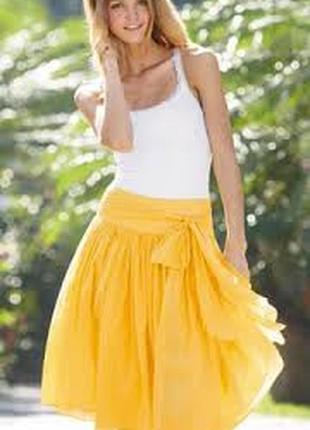 Летняя легкая юбка миди