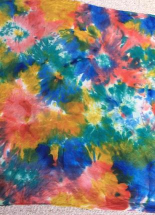 Цветочная картина» шелковый платок натуральный шелк/ роуль/ сумочный носовой шейный платок