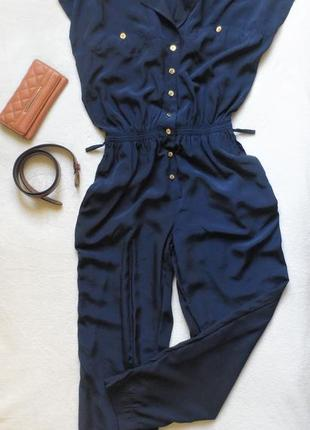 Классный темно-синий комбинезон, ромпер, размер s/m