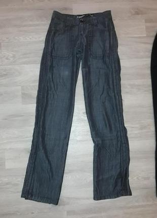 Летние джинсы, брюки прямые