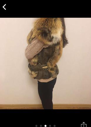 Шикарная лисья жилетка жилет мех лиса /лисы