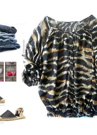 Шифоновая блуза размер 50-52