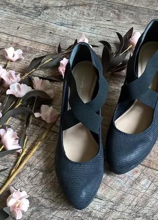 Стильные туфли от roberto santi /черные/кожа -36р.