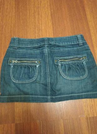 Джинсовая мини юбка2 фото