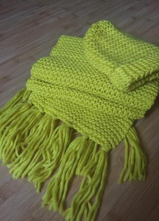 Вязаный комплект шарф и шапка h&m