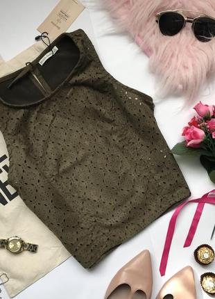 Акція блуза під замш хакі топ укорочена блузка хаки s с майка женская купить украина