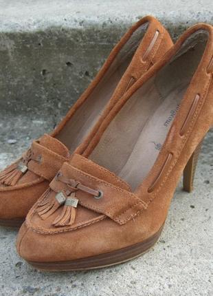 Замшевые туфли на каблуках new look, размер 38