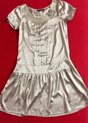 Шикарное платье с заниженной талией, бисер