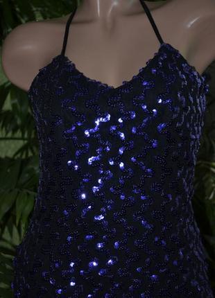 Шикарное платье в пайетках , фиолетовые пайетки на стрейч кружевной ткани