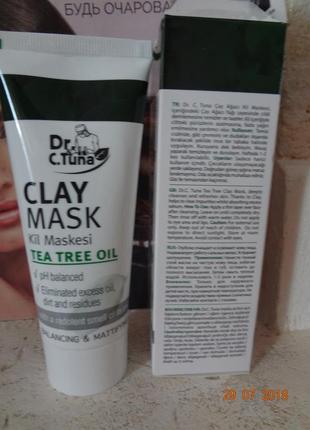 Глиняная маска для лица clay mask dr.tuna фармаси