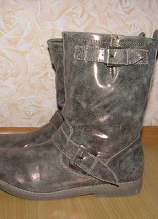 Graceland сапоги полусапожки чоботи 42р с золотим отливом