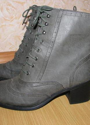 Limited collection ботинки броги оксфорди 39 р по ст 25.5 см кожзам цвет хаки