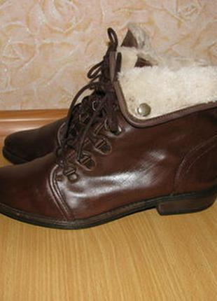 Office girl ботинки 38 р по ст 25 см кожаные состояние на фото
