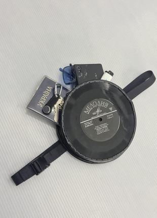 Поясная сумка из виниловых пластинок1