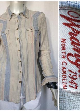 Wrangler оригинальная рубашка из льна и котона