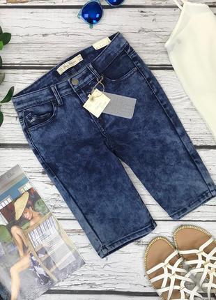 Фирменные джинсовые шорты из денима с tie dye эффектом  pn1831021  lft