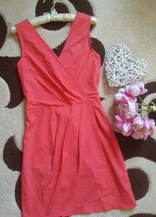 Красивое летнее платье имитация на запах