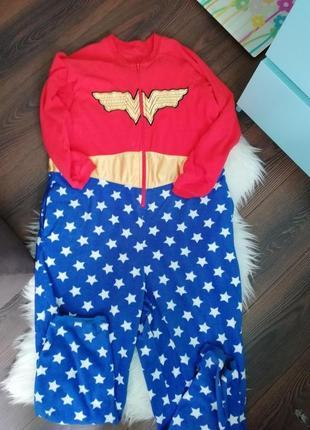 Слип кигуруми пижама вондер вумен