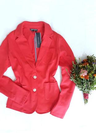 Красный пиджак, блейзер tommy hilfiger, m-l
