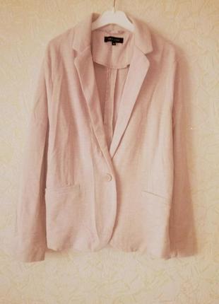 Пудровый блейзер жакет пиджак